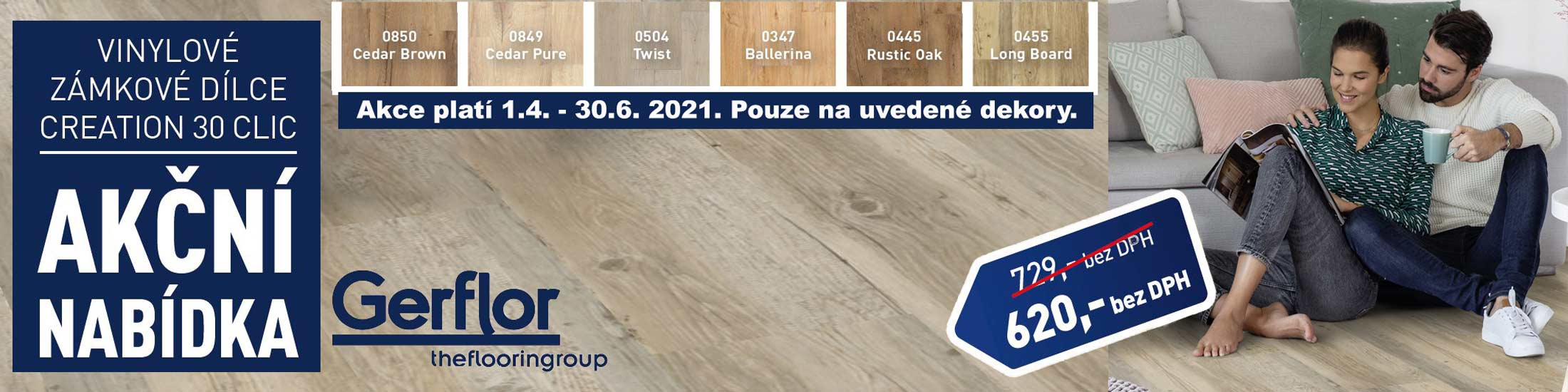 Akce Gerflor Creation 30 Clic 15%
